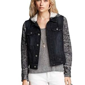 Free People Denim & Knit Jacket Pumice Black
